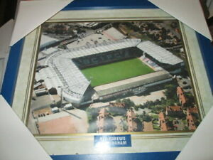 """BIRMINGHAM CITY FC ST ANDREWS FOOTBALL GROUND PRINT WITH GLASS APPROX 11.5""""X13.5"""