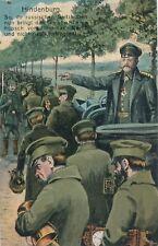 AK Hindenburg mit Soldaten, So ihr russischen Spitzbuben nun bringt...    (F34)