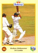 BUTTERCUP 1995 ROSHAN MAHANAMA Bat SRI LANKA, ACB Australian Cricket Card