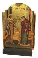 Annunciation Christian Biblical Devotional Greek Russian Byzantine Icon 5.5H