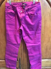 WHITE HOUSE BLACK MARKET BLANC VERY BERRY SLIM ANKLE JEAN SIZE 14 NWT