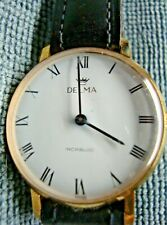 VINTAGE DELMA 17J WATCH  NEW OLD STOCK FROM DECEASED WATCHMAKER  ESTATE WORKING
