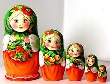 Muñeca rusa Alina y ashberry 5PC 14cm Anidamiento Muñeca Matryoshka