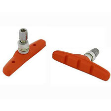 Orange 70mm Mountain Road Bike Bicycle Caliper Cantilever Brakes Pads Shoes