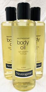 (3) Neutrogena Body Oil Light Sesame Formula Sesame Oil 8.5 oz