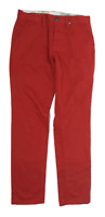 Next Mens Red Cotton Chinos Size W28/L30