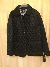 Lebek black/white reversible light padded short jacket uk18 REDUCED!