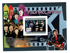 Paul Mc Cartney The Beatles Guinee 2007 sellos stamps music