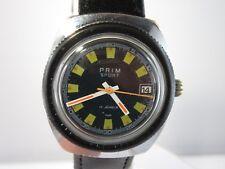 "J715 ⭐ Vintage ""Prim deporte"" 17 Jewels kal.684 funcionan reloj hombre military ⭐"
