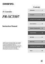 Onkyo Integra PR-SC5507 AV Controller Owners Instruction Manual