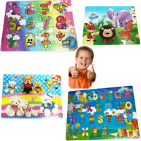 Kids Puzzle Jigsaw Block Learning Education ABC Number Alphabet Baby Montessori