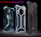 R-JUST CNC Aluminum Metal Frame Armor Bumper Case For Samsung S9 S8 iPhone X 8 7