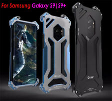 R-JUST CNC Aluminum Metal Frame Armor Bumper Case For Samsung S9+S8 iPhone X 8 7