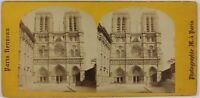 Nostra Signora De Paris Façade Francia Foto Stereo L6n65 Vintage Albumina c1870