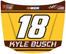 NASCAR #18 Kyle Busch Hood Shaped Magnet-NASCAR Magnet-NEW for 2016!