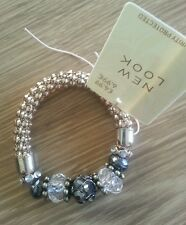 Lovely ladies gold coloured stretch bracelet with stones 'New Look'  bnwt NEW