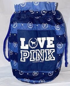 VICTORIA'S SECRET PINK VINTAGE QUILTED LOVE PINK MONOGRAM BUCKET BAG