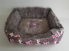 Large Dog Den Sofa Bed Indoor Puppy York Soft Sleep DogHouse Hut ENGLAND Home