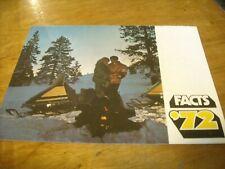 1972 Vintage SKI DOO Snowmobile Full Line Brochure TNT Blizzard