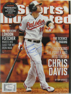 Chris Davis Orioles Signed Aug 26, 2013 Sports Illustrated Magazine (JSA COA)