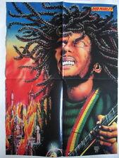 Bob Marley Rasta Art Honda 1000 Poster Germany 1980s