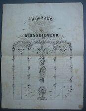 CALLIGRAPHIE. Méthode d.Ecriture. Hommage à Monseigneur. XIXè Siècle.