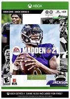 Madden NFL 21 EA Sports (Microsoft Xbox One / Series X) Brand New Sealed XB1