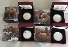 1 oz. Fine Silver 4-Coin Set – Grizzly Bear (2015)