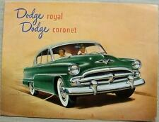 DODGE ROYAL & CORONET 1954 USA Car Sales Brochure #YPXOJ