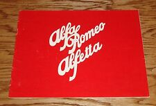 Original 1975 Alfa Romeo Alfetta Sales Brochure 75