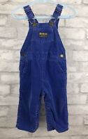 Vintage OshKosh Bib Overalls Vestbak Corduroy Blue One Piece Jumper Retro US 12M