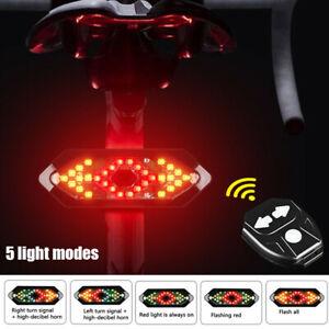 Bike Rear Light LED Indicator Bicycle Turn Signal Taillight Wireless Remote Lamp