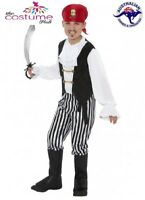 BOYS PIRATE Costume Captain Hook Buccaneer Kids Fancy Dress Book Week