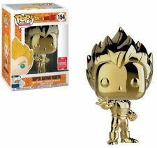 Funko Pop Dragon Ball Z Super Saiyan Vegeta Gold Chrome 2018 SDCC
