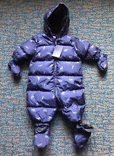 GAP BABY UNISEX COLDCONTROL MAX DOWN PRINT SNOWSUIT 0-6Month dark night