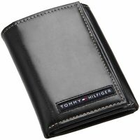 Tommy Hilfiger Mens Leather Trifold Wallet with Removal Card Holder