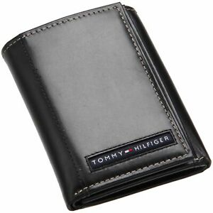 Tommy Hilfiger Men's Leather Trifold Wallet with Removal Card Holder