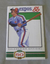 Original MLB Montreal Expos 1986 Official Baseball Schedule