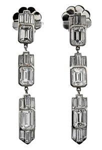Platinum Art Deco Diamond Estate Earrings ***Lot 4254M***
