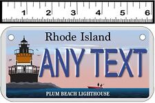 CUSTOM PERSONALIZED ALUMINUM 2 HOLE BICYCLE STATE LICENSE PLATE-RI LIGHTHOUSE