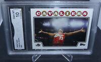 2008-09 Topps Lebron James Iconic Chalk Toss Card GMA Graded Gem Mint 10 HOTTTT