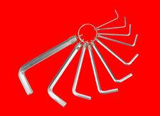 10 tlg. Innensechskant Steckschlüssel Stift Schraubenschlüssel 1.5mm - 10mm Y504