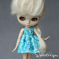 """【Tii】elsa dress outfit 12"""" 1/6 doll Blythe/Pullip/azone Clothes Handmade girl"""