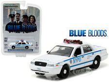 2001 FORD CROWN VICTORIA POLICE NYPD BLUE BLOODS 1/64 CAR BY GREENLIGHT 44760 D