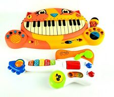 B. Toys Lot Meowsic Musical Orange Keyboard Cat Piano And Woofer Toddler Guitar