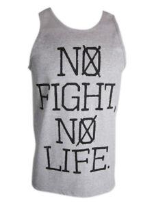 VXRSI Mens Fight Life 2 Tank Top Shirt - Gray - mma bjj ufc