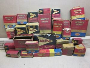 EMPTY  27pcs USED OLD MOPAR BOXES 1940'S 1950'S DODGE PLYMOUTH CHRYSLER DESOTO