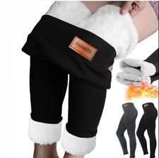 Fleece Hot Super Thick Wool Leggings High Waist Winter Warm Pants Top