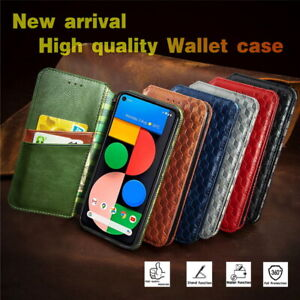 Scratch-proof Stand Flip Wallet Phone Protective Case For Google 4A Pixel 5 5XL