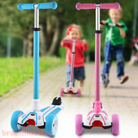 Kid Scooter Kick Scooter Deluxe For Age 3-12 Adjustable s Girl Boy 3 LED Wheels